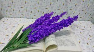 Cách làm hoa giấy lavender và hoa lily