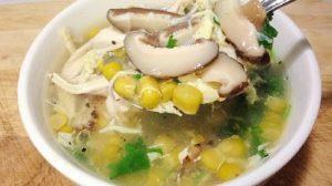 Cách nấu súp gà nấm hương